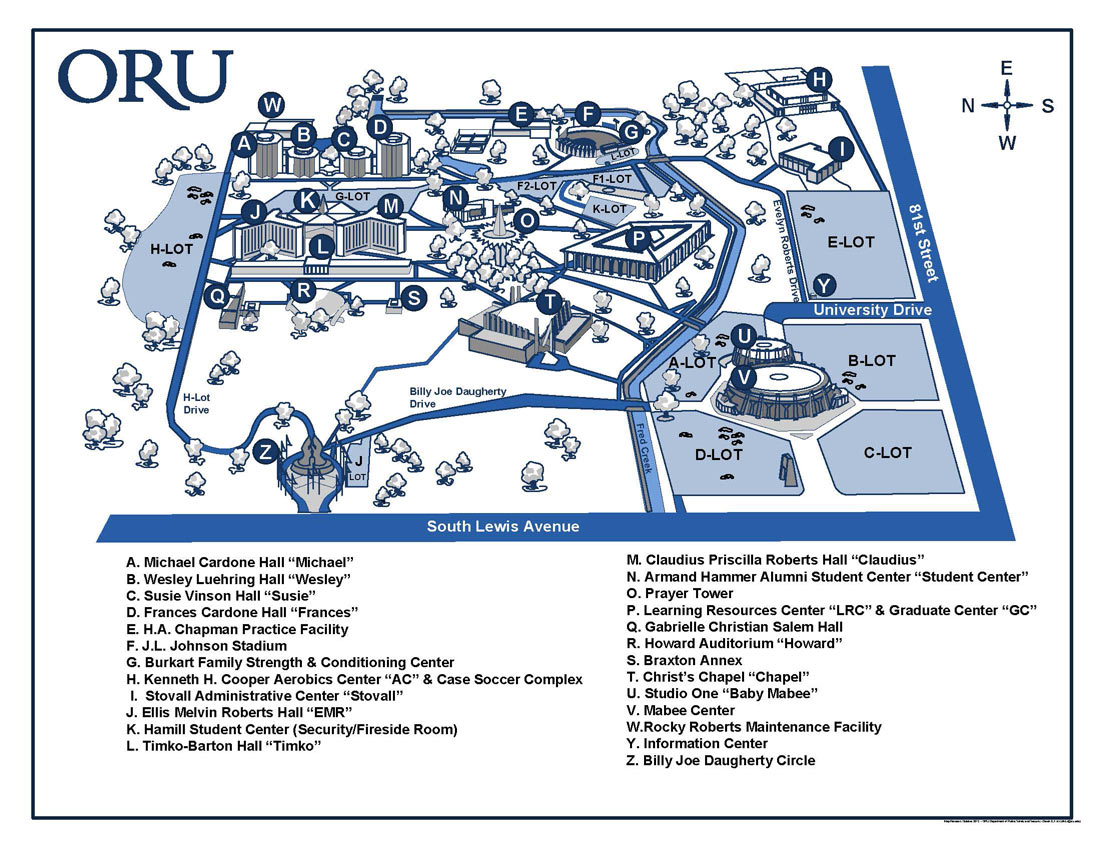Image result for oru campus map